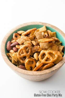 Slow Cooker Gluten Free Chex Party Mix