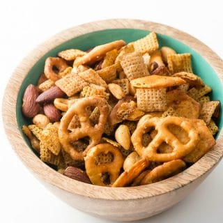 Slow Cooker Gluten Free Chex Party Mix. The classic party mix with all gluten-free ingredients: Chex cereal, cheese crackers, pretzels, smoked almonds and cocktail peanuts in a savory seasoned sauce. Easy to prepare in the slow cooker! BoulderLocavore.com