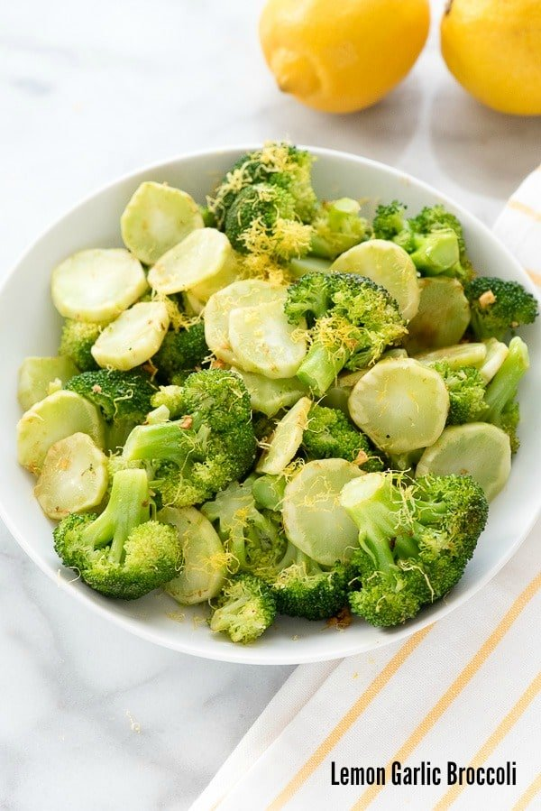 Lemon Garlic Broccoli recipe. Super simple to make, light, fresh flavors. A perfect compliment to any main dish or an ample main portion to eat your vegetables (happily). Gluten-free. - BoulderLocavore.com