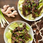 Mongolian Beef Salad with Ginger Vinaigrette