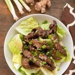 Mongolian Beef Salad with Ginger Vinaigrette Recipe