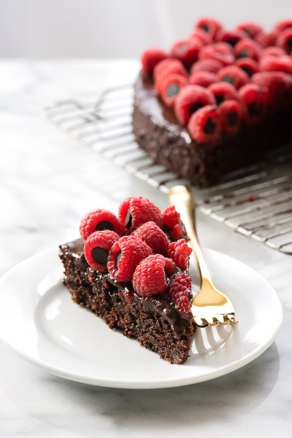 Triple Chocolate Wacky Cake with Chocolate-Stuffed Raspberries (Allergy-Friendly) batter - BoulderLocavore.com
