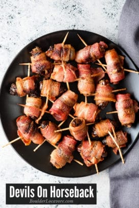 Devils on Horseback appetizer title