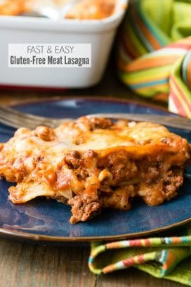Fast and Easy Gluten-Free Meat Lasagna