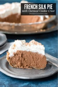 French Silk Pie with an Oatmeal Cookie Crust title image