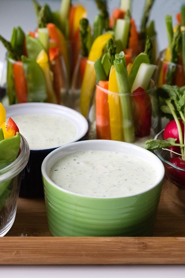 Green Goddess Dip Recipe with Vegetables | Boulder Locavore