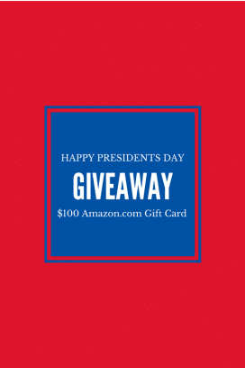 President's Day $100 Amazon.com Gift Card Giveaway!