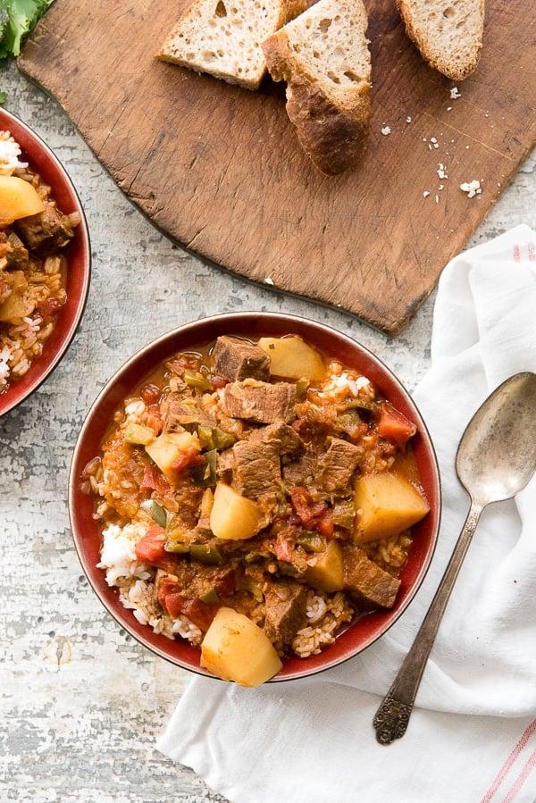 Instant Pot Cuban Beef Stew Carne Con Papas Gluten Free Tender Beef