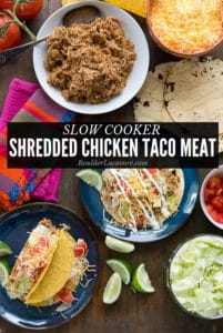 Slow cooker Shredded Chicken Taco Meat title image