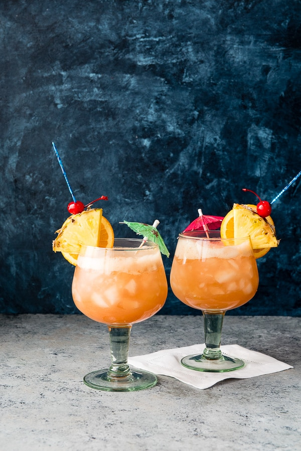 The Zombie Cocktail. A tropical-tasting rum cocktail that is sure to make you feel on vacation any time! - BoulderLocavore.com