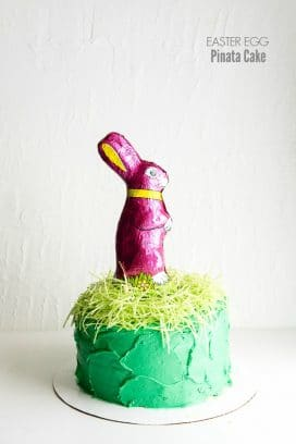 Easter Egg Pinata Cake (a box mix hack)