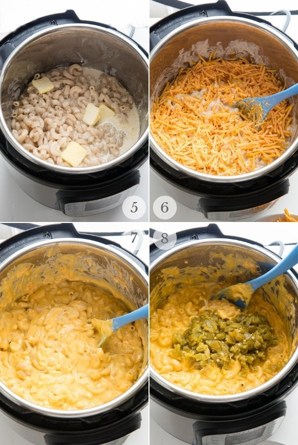 Instant Pot Mac and Cheese recipes steps collage 2