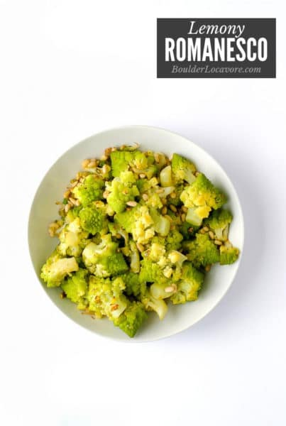 Lemony Romanesco with Pine Nuts title image