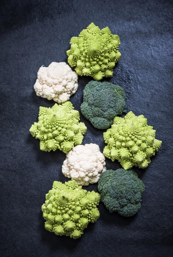 Romanesco, Broccoli and Cauliflower