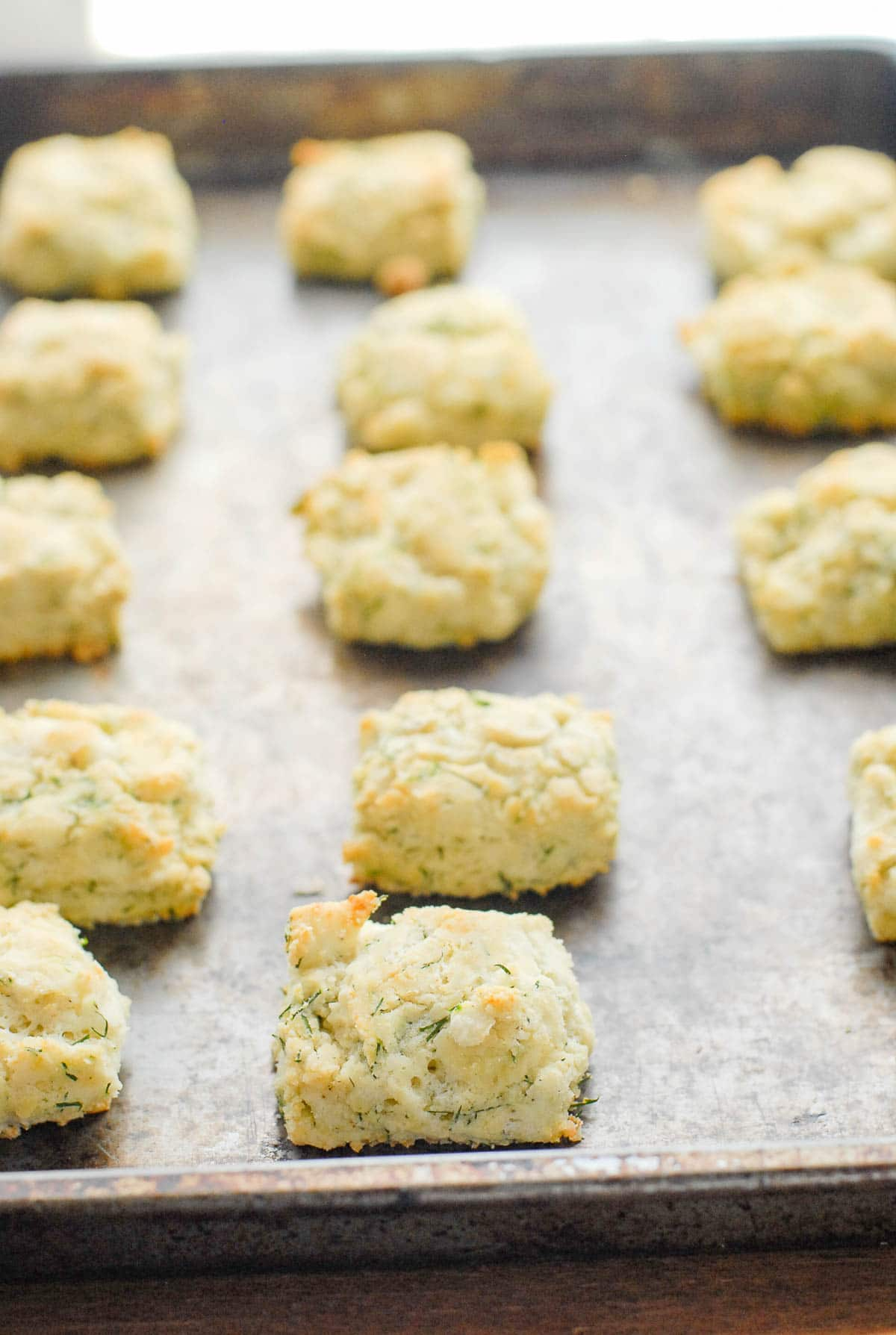 buttermilk biscuits ON BAKING SHEET