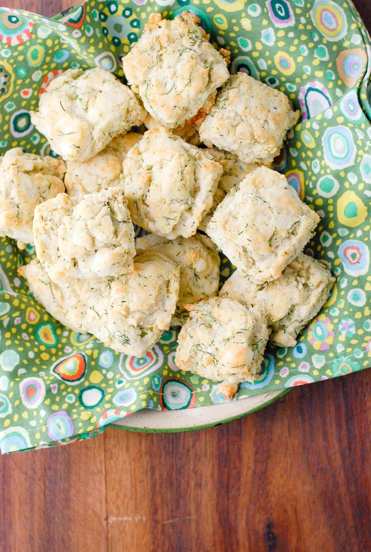 buttermilk biscuits in basket