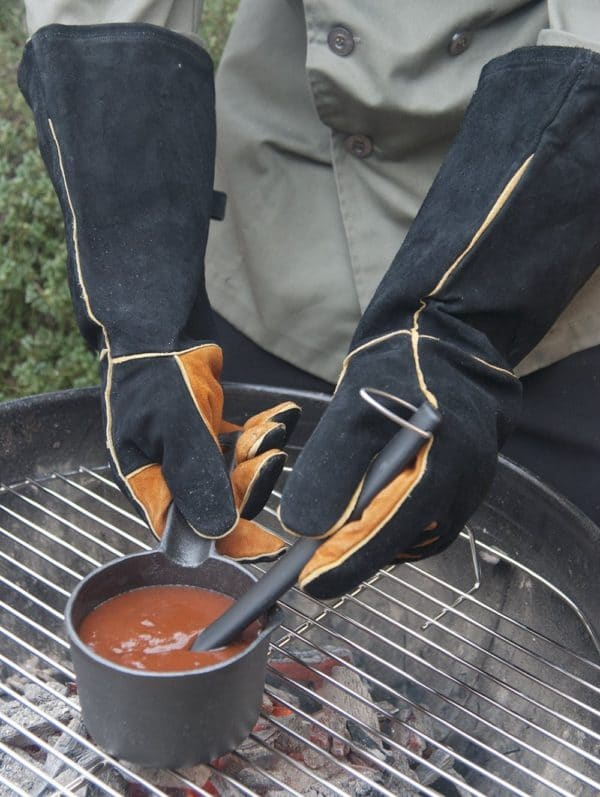 Extra Long Grilling Gloves suede