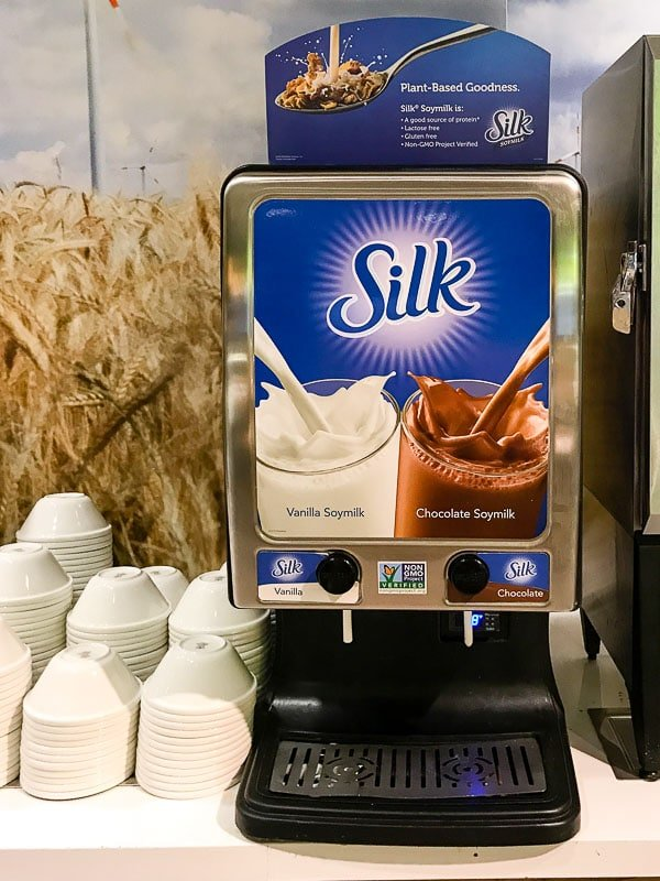 Silk non-dairy milk in college dining hall BoulderLocavore.com