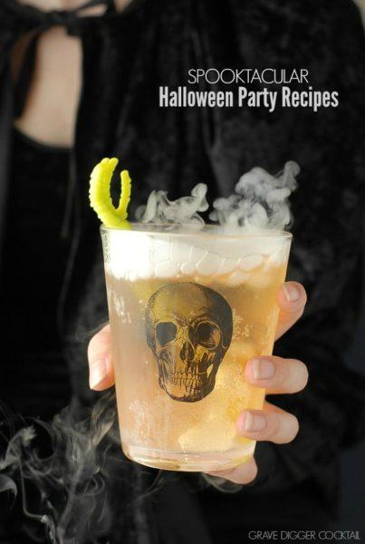 Spooktacular Halloween Party Recipes - Grave Digger Cocktail | BoulderLocavore.com