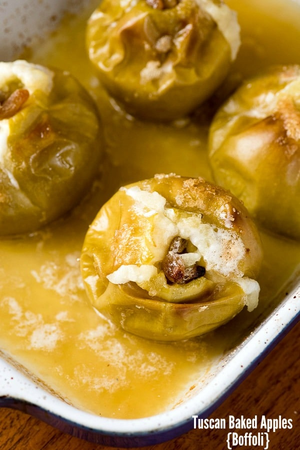Tuscan Baked Apples {Boffoli} filled with golden raisins, pine nuts, demerara sugar BoulderLocavore.com