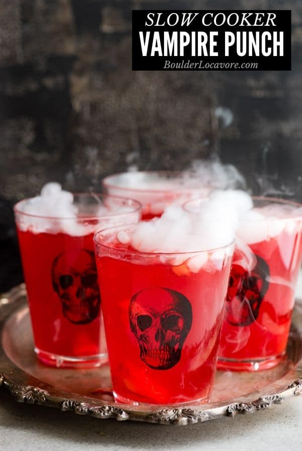 Slow Cooker Vampire Punch for Halloween title image