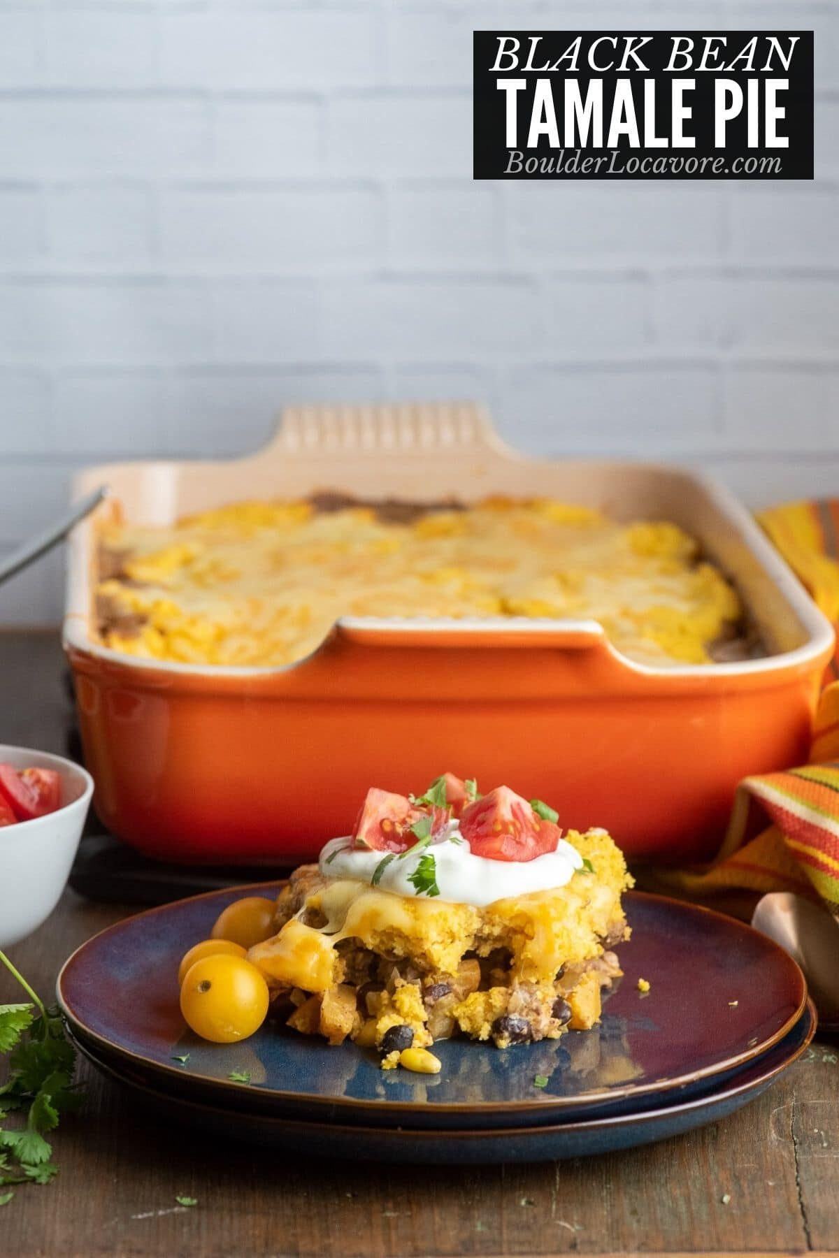 serving of tamale pie on plate