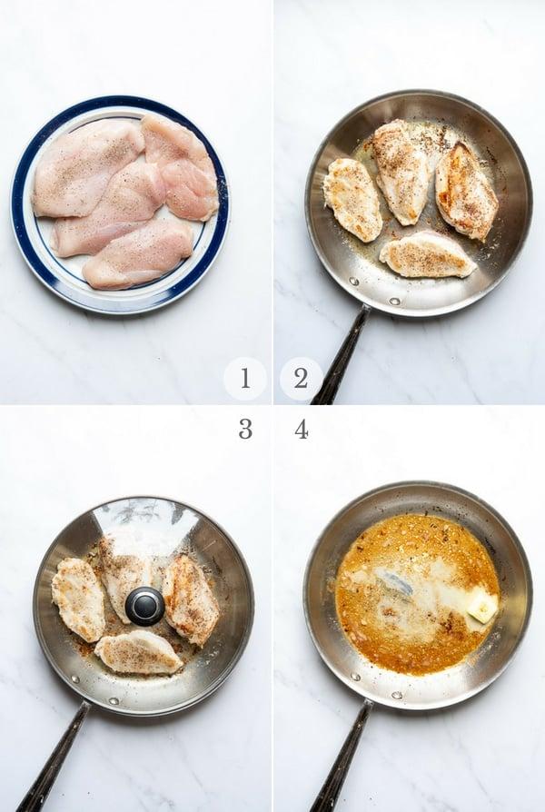 Balsamic Chicken instructions - process photos steps 1-4