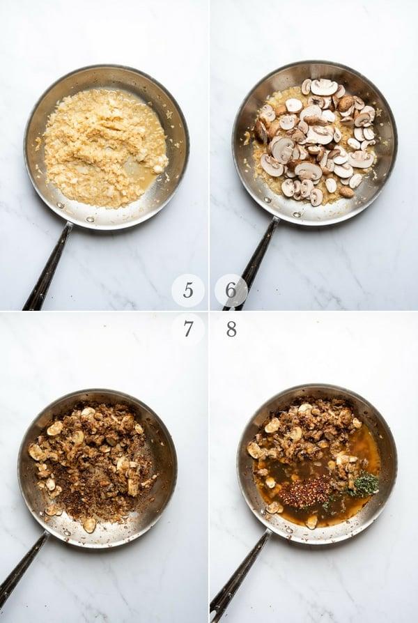 Balsamic Chicken instructions - process photos steps 5-8