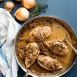 Balsamic Chicken with creamy mushroom sauce
