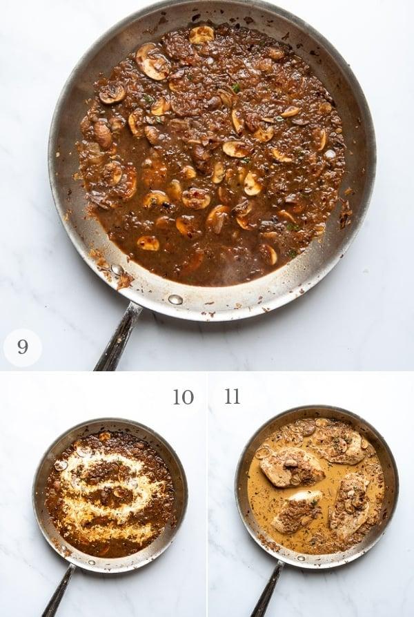 Balsamic Chicken instructions - process photos steps 9-11