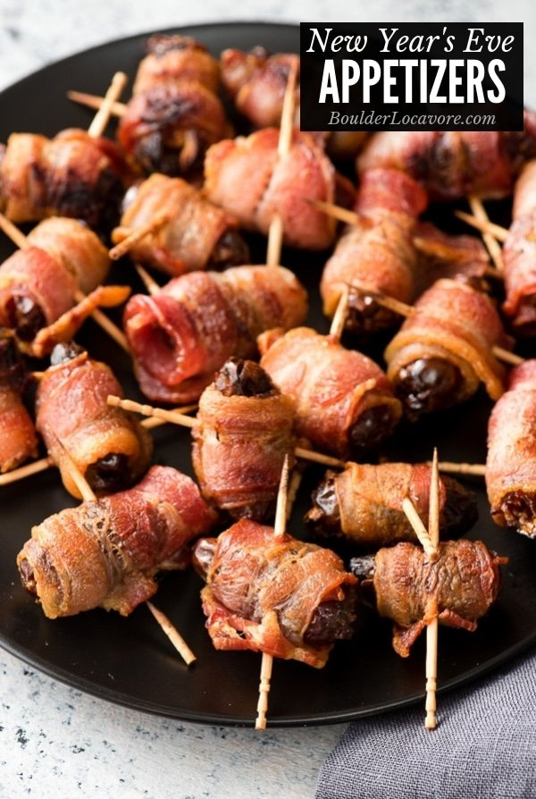 bacon wrapped dates with toothpicks