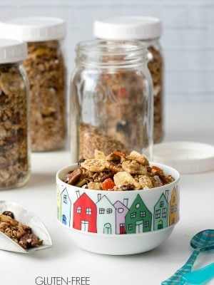 Gluten-free Slow Cooker Tropical Fruit Granola