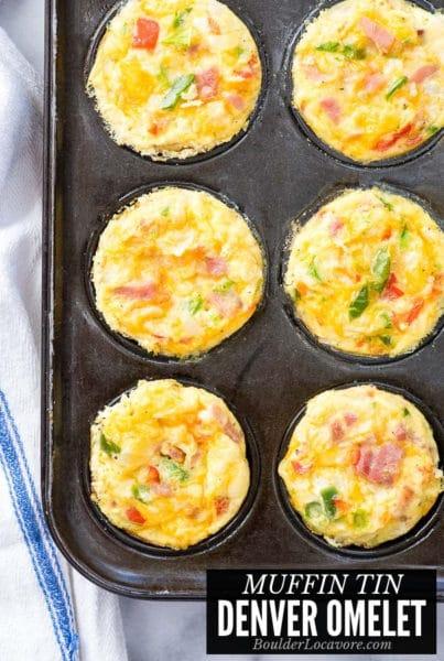 Muffin Tin Eggs Denver Omelet title image