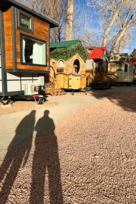 the Hobbit House and other Tiny Houses at WeeCasa resort Lyons Colorado