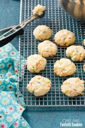 Cake Mix Funfetti Cookies (gluten-free or regular mix)