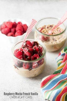 Raspberry Mocha French Vanilla Overnight Oats