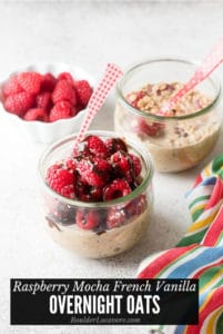 Raspberry Mocha French Vanilla Overnight Oats title image
