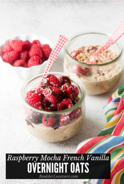 Raspberry Mocha French Vanilla Overnight Oats title image