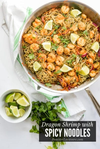 Spicy Noodles & Dragon Shrimp title