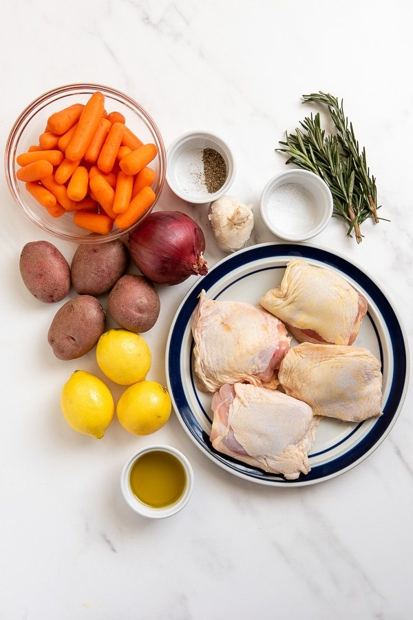 sheet pan chicken thighs ingredients