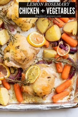 sheet pan chicken thighs title image