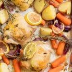 sheet pan chicken thighs pinterest image
