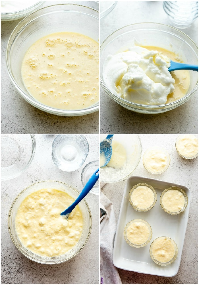 Lemon Baked Custard process steps