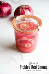 Quick Pickled Red Onions in jar
