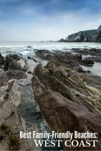 Rugged coastal beach and rocks for Best Family Beach Vacations on the West Coast