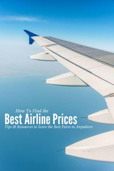 How to Find the Best Airline Prices (airplane wing in sky)