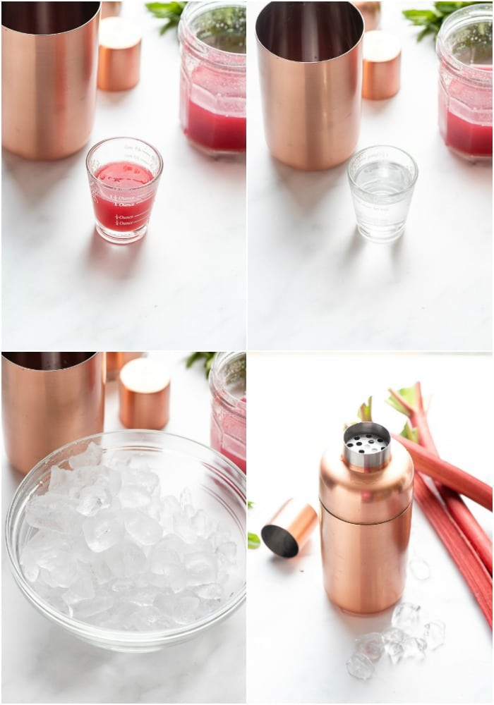 Steps to make Rhubarb Pie cocktail a (a light, pink rhubarb vodka cocktail)