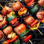 Grilled Kabob Recipes on grate (titled image)