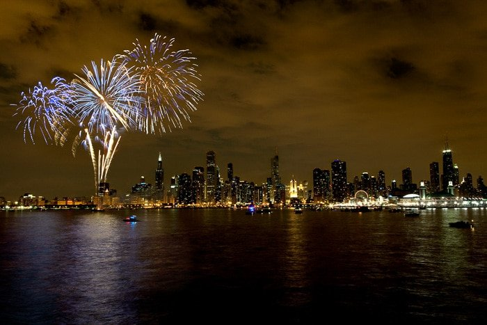 Chicago Fireworks at Navy Pier