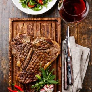 Grilled Porterhouse Steak on cutting board
